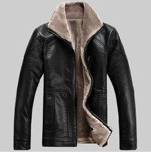 Бесплатная доставка зима новый 2015 человек мода марка большой размер стоять воротник досуг меха ягненка овечья кожа кожа / м-5xl