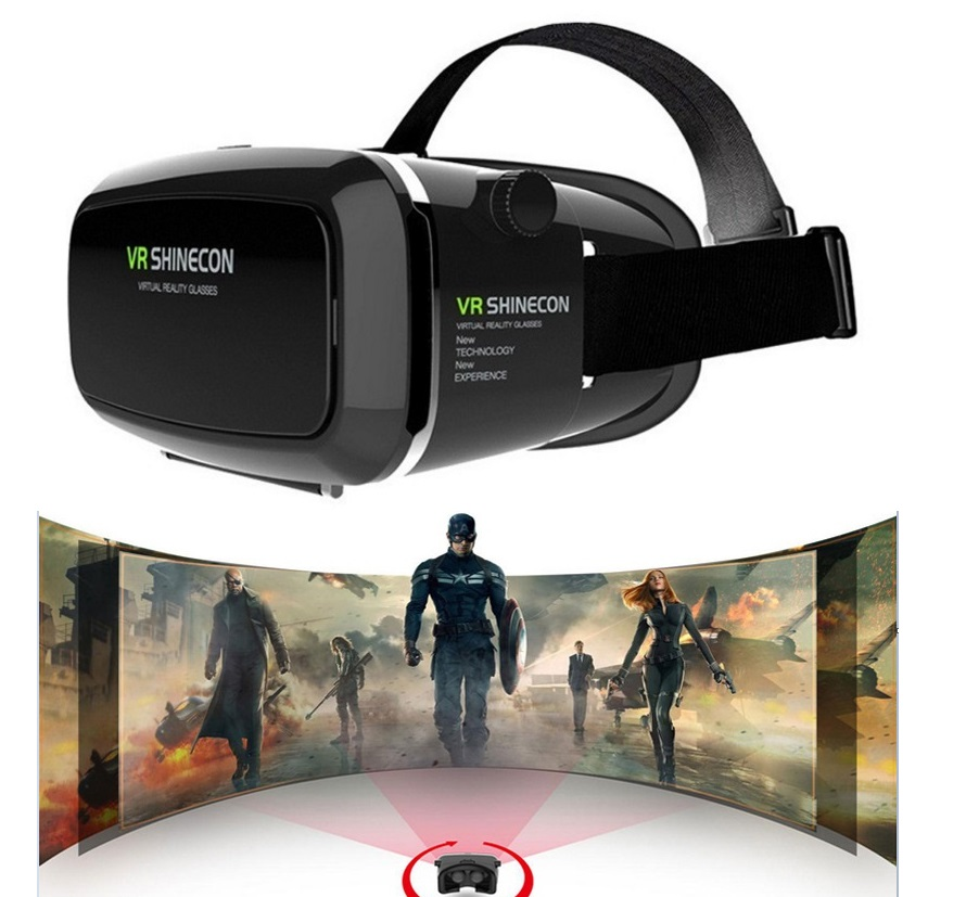 <font><b>Shinecon</b></font> <font><b>VR</b></font> <font><b>Virtual</b></font> <font><b>Reality</b></font> 3D <font><b>Glasses</b></font> <font><b>Helmet</b></font> <font><b>Google</b></font> Cardboard Oculus Rift DK2 Gear for iPhone Samsung 4.7 ~ 6 inch Smartphone