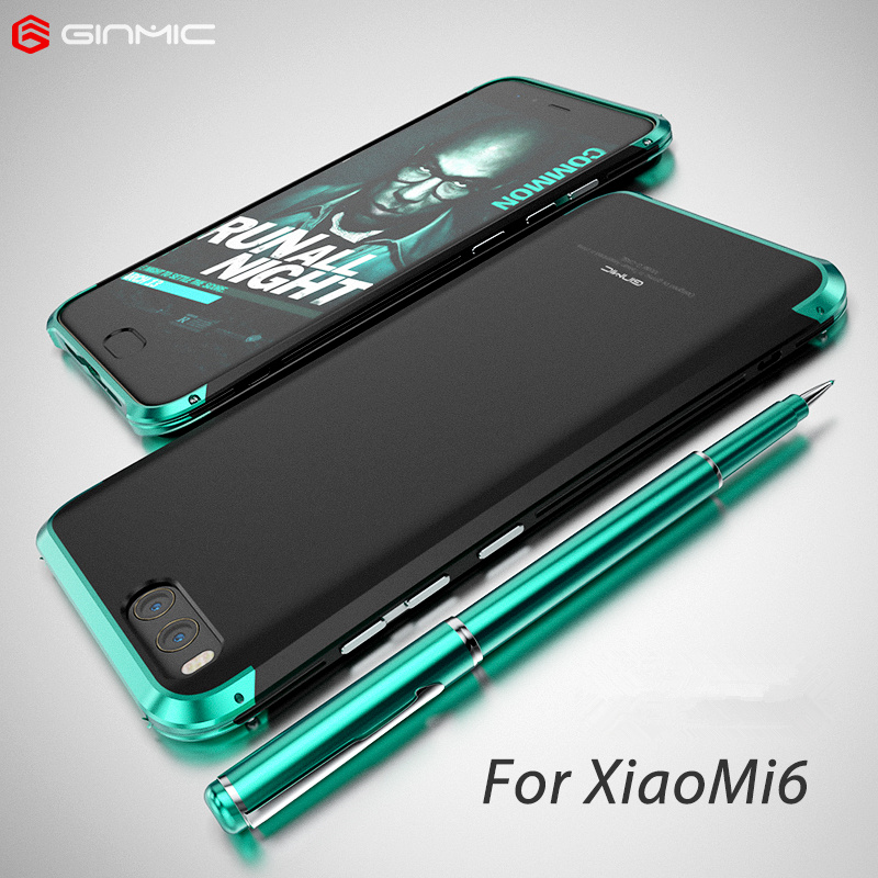 De luxe Pour Xiaomi Mi 6 Cas 360 Protection Complète 3 en 1 En Aluminium métal Pare-chocs PC Dur Hybride Slim Couverture Arrière Pour Xiaomi Mi 6 Cas