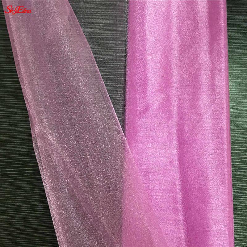72 CM * 10 M Cristal Sheer Organza Tecido Rolo de Tule para Decoração DIY Arcos de Casamento Sashes Cadeira Favor de Partido suprimentos 5ZSH015-2