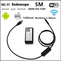 Wi-fi Android Iphone Камеры Эндоскопа 8 мм Объектив 1 М 2 М 3.5 М 5 М Водонепроницаемый Змея Трубы бороскоп 720 P Iphone Камеры Эндоскопа