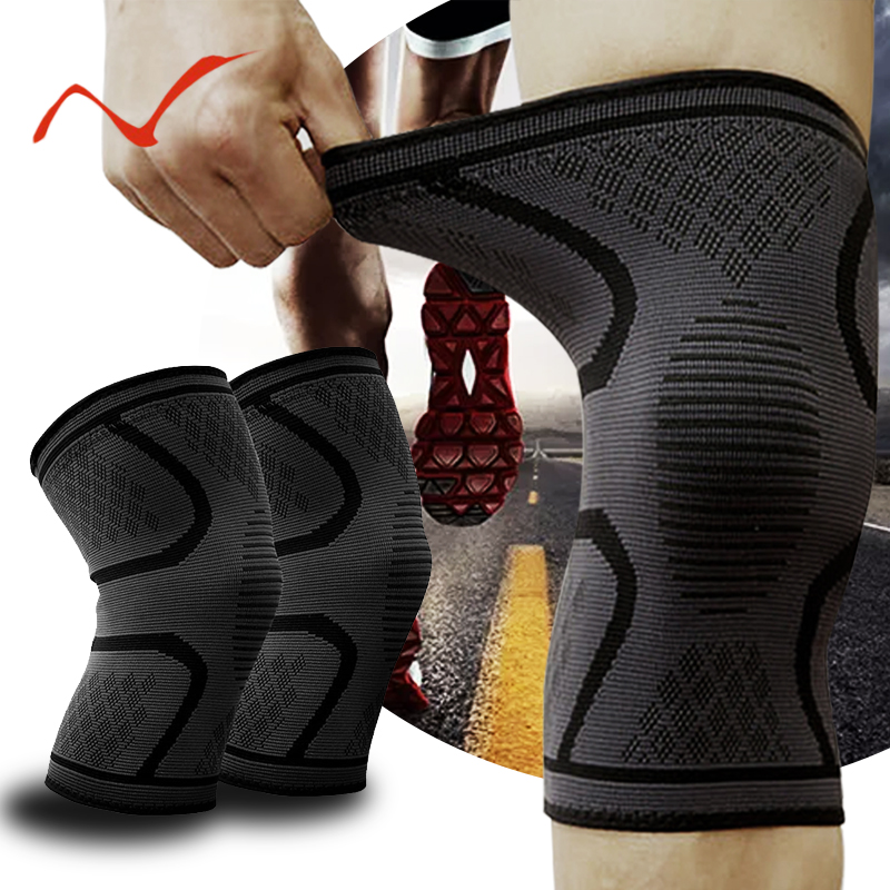 1 Pair Nylon Knee Protector Breathable Knee Pads Brace for Running Fitness Hiking Cycling Injury Recovery