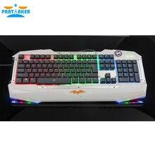 PS/2 Проводная RGB 7 Цвета СВЕТОДИОДНЫЕ Компьютерная Периферия Игровой Клавиатуры для Настольных Ноутбуков LOL Dota