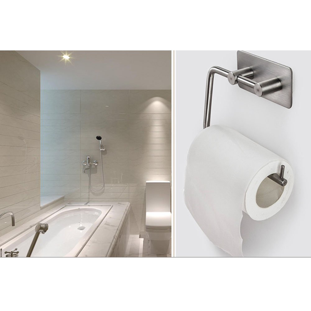 Covered Toilet Paper Storage Self Adhesive Stainless Steel Toilet Paper Storage Holder Bathroom Toilet Holder Paper Roll Shelf Stick On Wall In Storage Holders Racks From Home