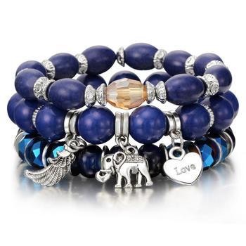 Women's Boho Style Stone Charm Bracelet Bracelets Jewelry New Arrivals Women Jewelry Metal Color: sl1034