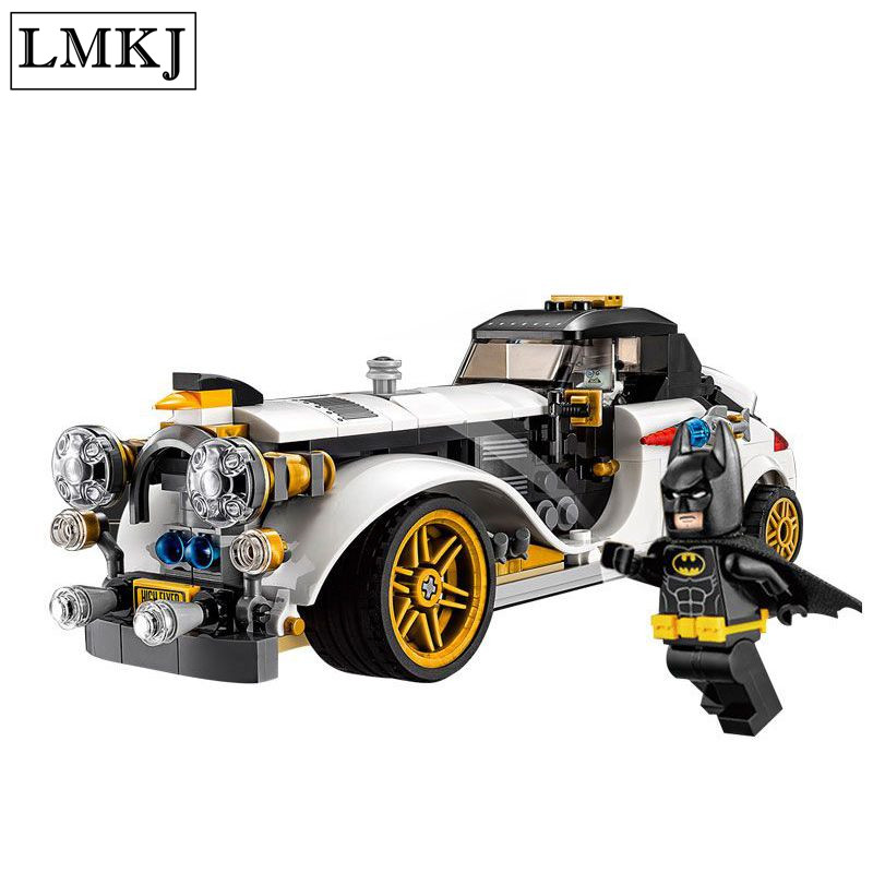 New 305Pcs Lepin 07047 Genuine Batman Series The Arctic War Penguin Classic Car Set Building Blocks