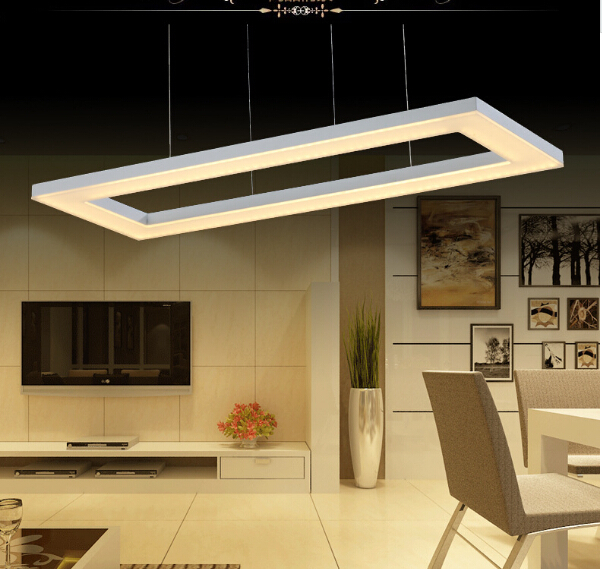 acryl pendant lamp white led 60*30cm modern brief fashion rectangle square pendant light for restaurant bar dining room 1807 bried led aluminum acryl pendant light for office dining room ruler creative jane pendant light 110 220v 34 60 90 120cm 1759