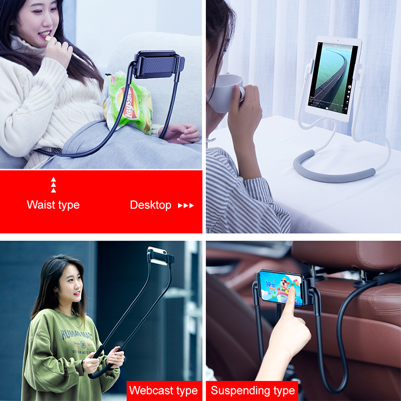 Image 2 - Baseus Flexible Lazy Neck Phone Holder Stand For iPhone Samsung Xiaomi Tablet Cell Phone Desk Mount Bracket Mobile Phone HolderPhone Holders & Stands   -