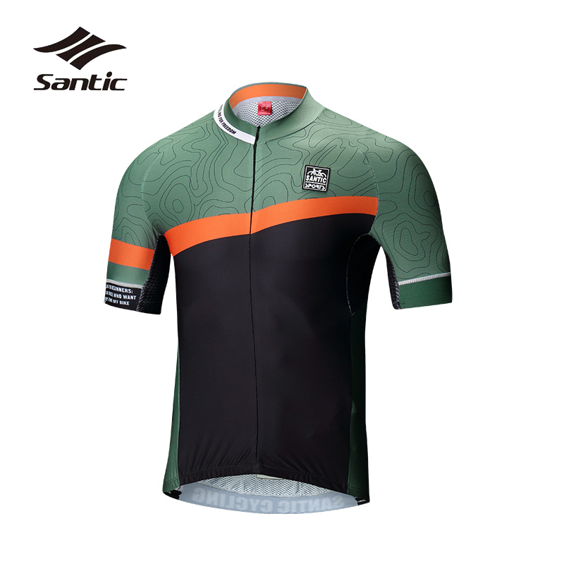 Santic Men Cycling Jersey Summer 2018 Pro Team Road Mountain Bike Jersey Breathable Quick Dry Riding Jersey Bicycle Clothing new brand xintown team quick dry breathable bicycle bike jersey anniversary special edition men cycling jerseys clothing set 125