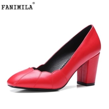 Размер 32-42 Женщин На Высоких Каблуках Обувь Женская Насосы Дамы Офис Квадратных Heeles Марка Круглого Toe Ботинки Отдыха Дамы Скольжения На Обувь