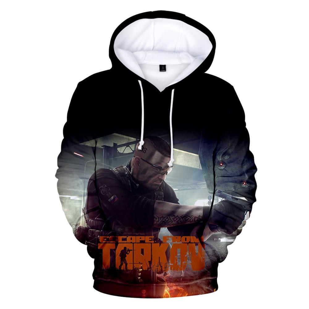 Hot Sale Game Escape from Tarkov 3D Printed Hoodies Boy/Girl Classic Long Sleeve Hooded Sweatshirt High Quality streetwear Tops