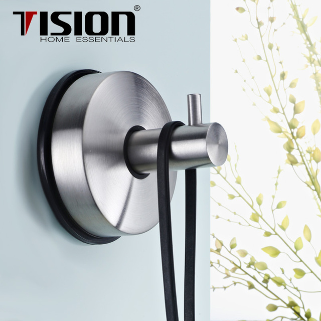 TISION Stainless Steel Vacuum Strong Bathroom Suction Hook Sucket Metal  Coatu0026robe Wall Hanger Clothes Kitchen Towel