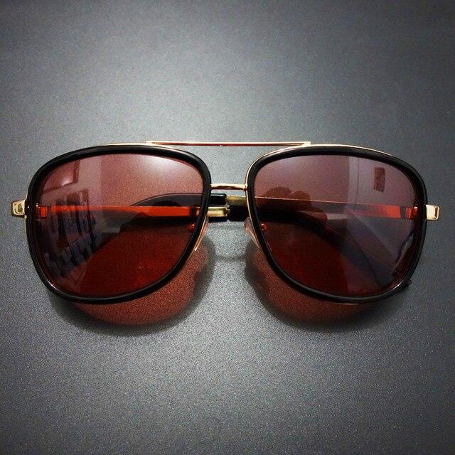 Vintage Steampunk Sunglasses Men Luxury Brand Sun Glasses for Men Tony Stark Iron Man Male Sunglasses Steampunk Goggles Oculos