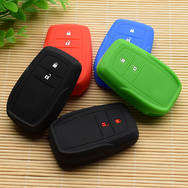 For Toyota Hilux Innova Rav4 Fortuner Silicone Remote Key Case Fob Cover