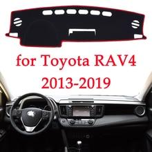 Araba dashboard önlemek ışıklı çerçeve enstrüman platformu Masası Kapağı Paspaslar Halı TOYOTA RAV4 Için 2013 2014 2015 2016 2017 2018 2019 araba