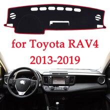 Evitar a luz do painel do carro instrumento pad Cover Secretária plataforma Mats Tapetes Para TOYOTA RAV4 2013 2014 2015 2016 2017 2018 2019 carro