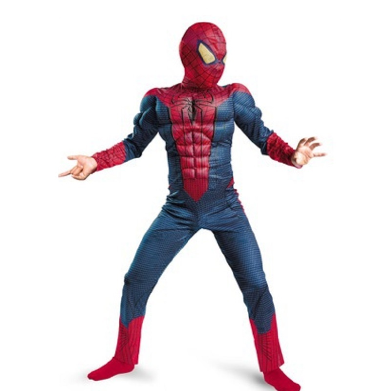 High Quality Spiderman Cosplay With High Quality For Kids Party Fashion Costume For Purim Halloween Festival