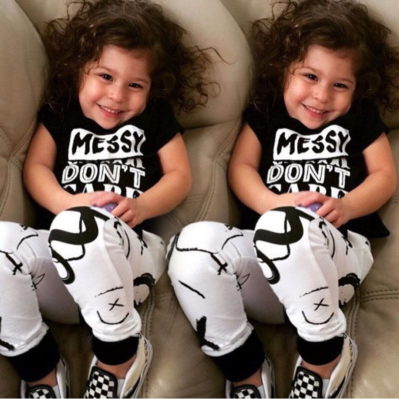 2pcs Newborn Toddler Kids Baby Boys Girls Clothes Outfits T-shirt Tops+Pants Set 2 3 4 5 6 7T summer cool baby boy clothes set toddler kids boys children clothing tops t shirt pants 2pcs outfits costume set 0 5y
