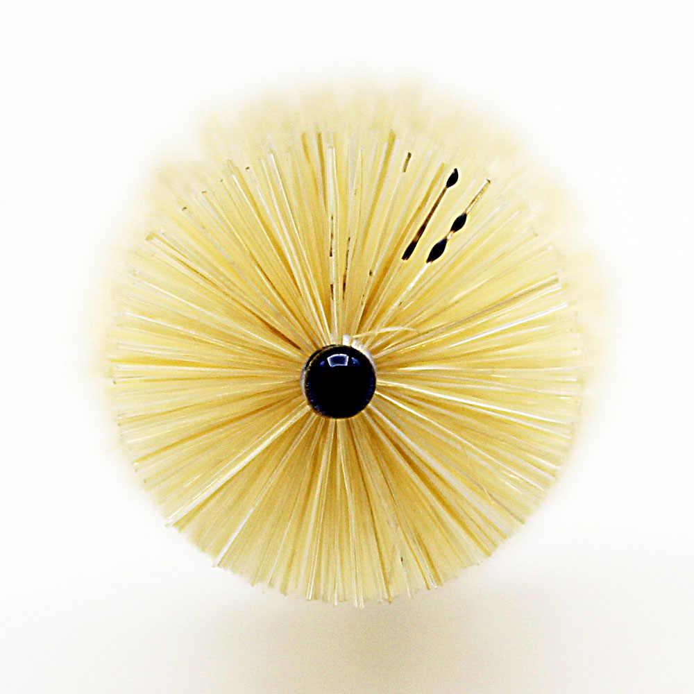 Boquilla cepillo de limpieza Cerdas con mango de Metal para instrumento de viento saxofón