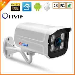 BESDER Wide Angle 2.8 milímetros Ao Ar Livre Câmera IP PoE 1080 P 960 P 720 P ONVIF Segurança Caixa De Metal À Prova D' Água câmera de CFTV IP 4 PCS MATRIZ de LED