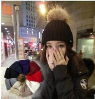 2018 Shay Hairy Ball Knitted Hat Korean Version Of Women S Winter Thick Warm Wool Hat