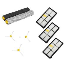 1 set Tangle-Free Debris Extractor&Filters &Side Brush Replenishment kit for iRobot Roomba 800 900 series 870 880 980 2 set debris extractor brush 4 dust hepa filter 4 side brush kit for irobot roomba 800 860 864 870 880 980 replacement parts