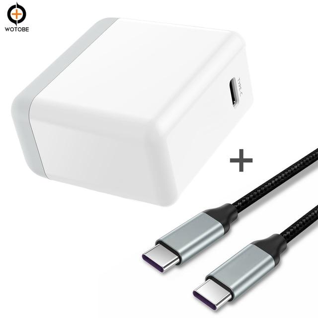 PD3.0 45 Вт Зарядное устройство адаптер питания TYPE-C usb-c тканый кабель для передачи данных MacBook/DELL XPS 12/13/Google Pixel XL для iPhone X/8 8 Plus