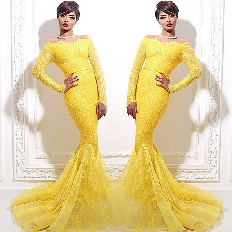 Yellow Evening Gown Promotion-Shop for Promotional Yellow Evening ...