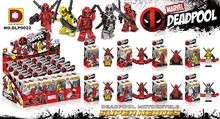 DLP9022 Dc Hero Deadpool 8pcs/lot Building Block Minifigures Compatible with Legoe Brick Toy Christmas Gifts