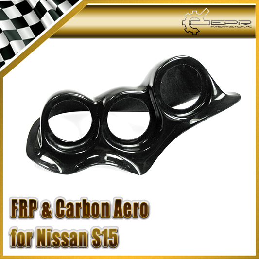 Car-styling For Nissan S15 Uras Type FRP Fiber Glass Dash Mount Triple Gauge Pod 60mm(RHD) In Stock