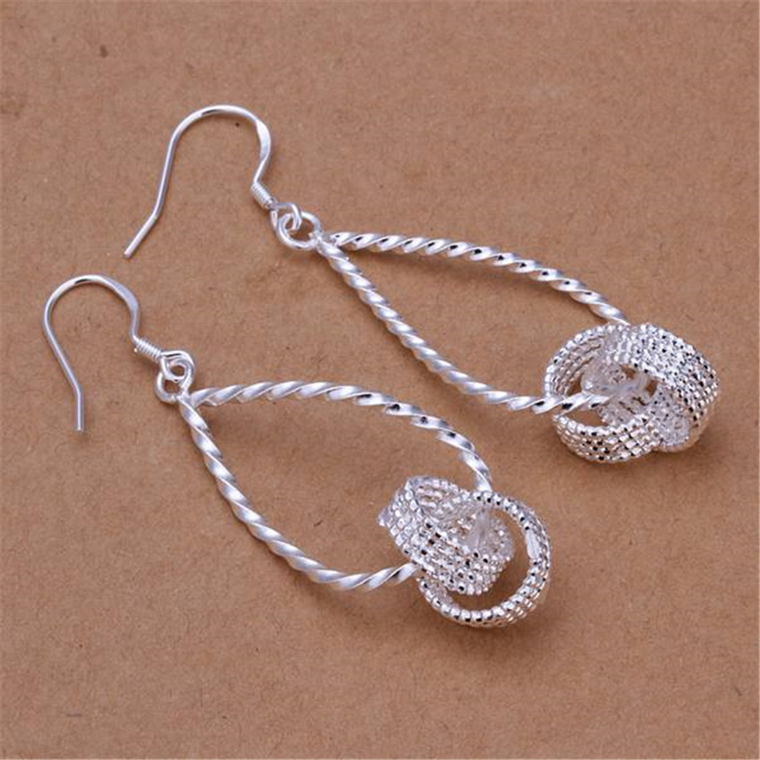 Special Explosion Models Free Shipping  Silver Color  Jewelry Factory Wholesale Fashion Elegant Women  Earrings