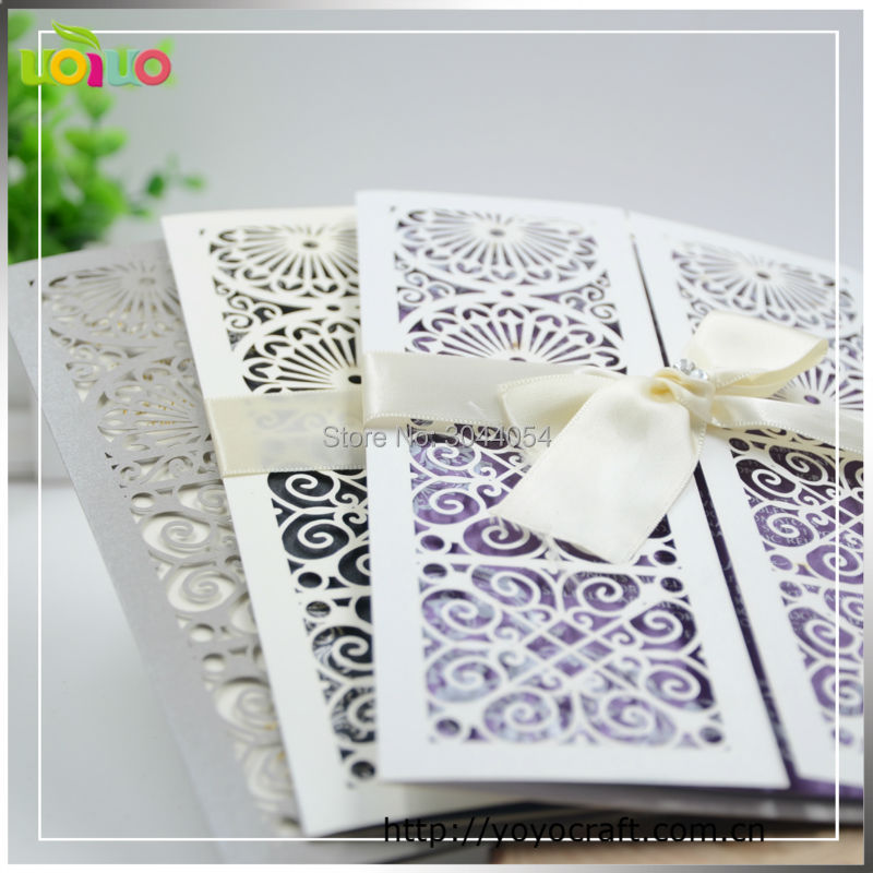 Us 36 5 Hot Sell Laser Cut Wedding Invitation Card Matter In Marathi Gatefold Handmade White Wedding Invitations Sample Free In Cards Invitations