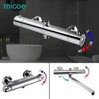 Micoe Thermostatic Shower Faucets Bathroom Thermostatic Mixer Hot And Cold Bathroom Mixer Mixing Valve Bathtub Faucet