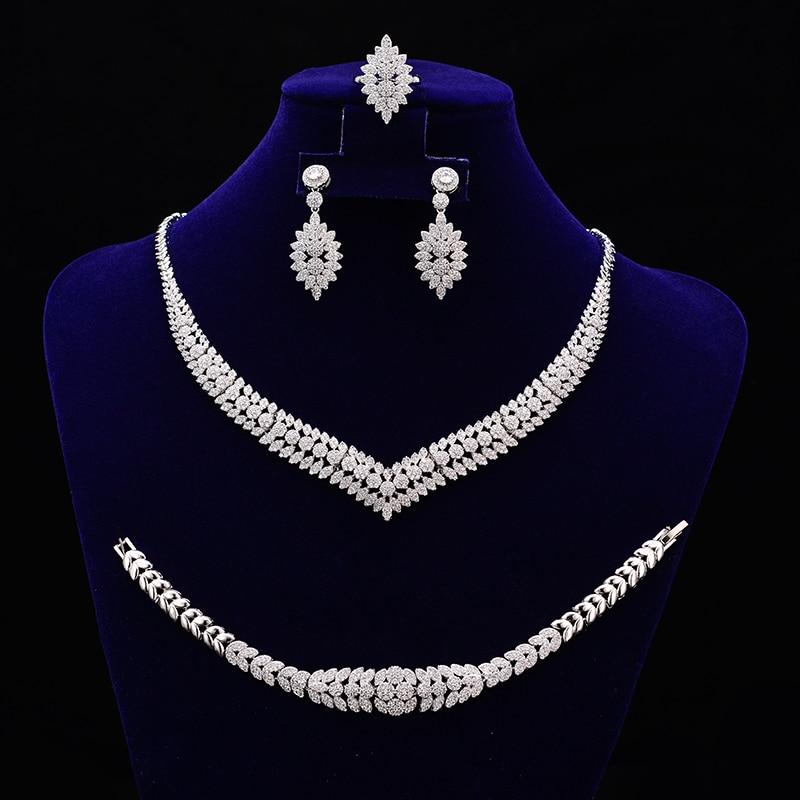 Conjuntos de joyas HADIYANA nuevo diseño de lujo de moda elegante para mujeres con alta calidad CNY0025 conjunto de collar de acero inoxidable-in Conjuntos de joyería from Joyería y accesorios    1