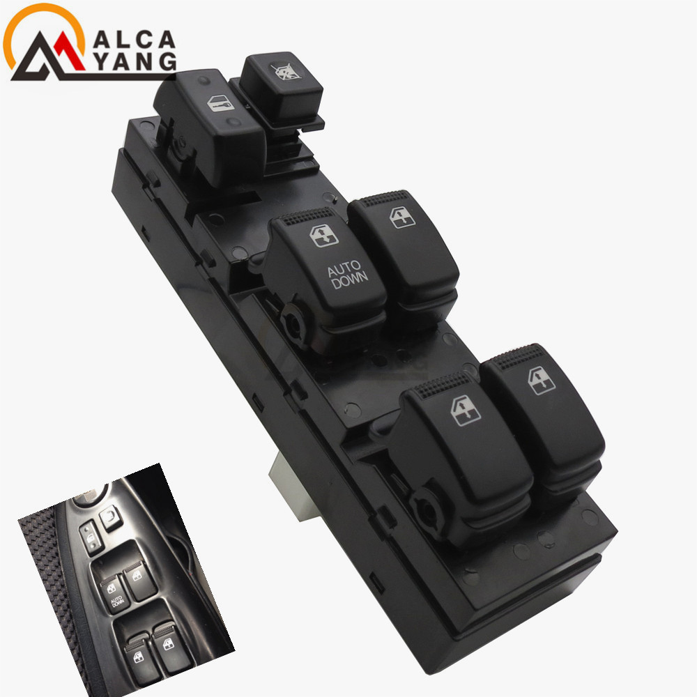 Electric Power Master Window Switch Compatible with K-IA RiO RiO Hybrid 2006-2010 Black