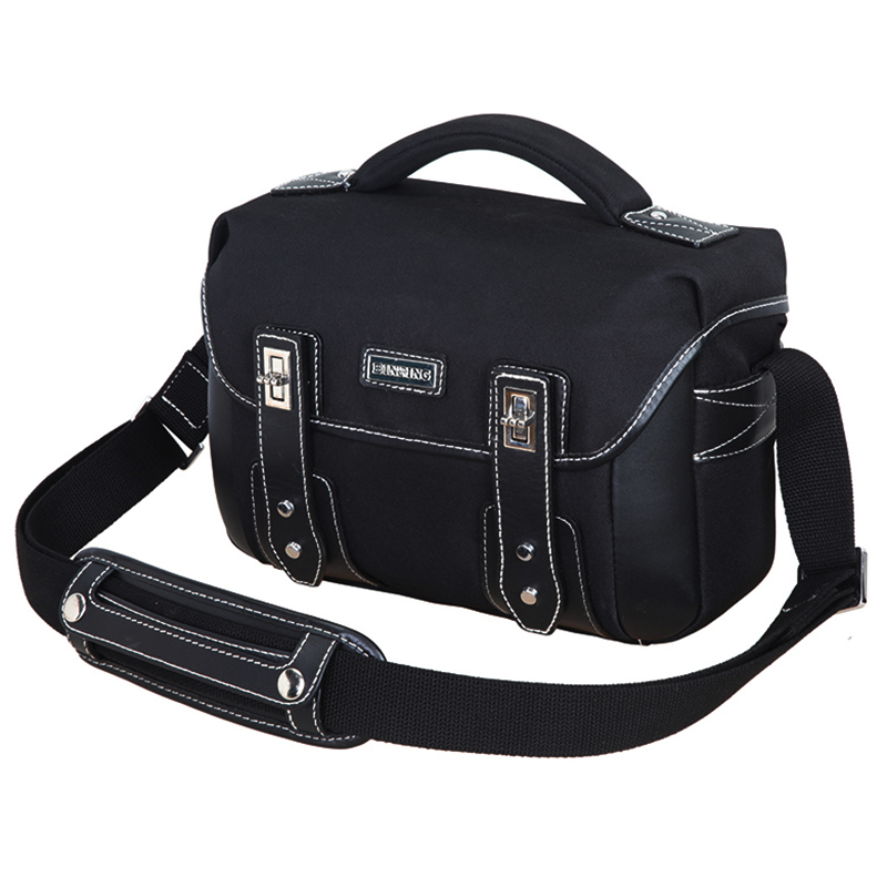 Sling Shoulder Camera Bag Photo Video Carry Case Box Camera Gray Black Small Travel DSLR Bags for Canon Nikon Sony Pentax vintage 100% cowhide leather dslr slr camera video bag cross body messenger bags for sony canon nikon men s handbags travel bags