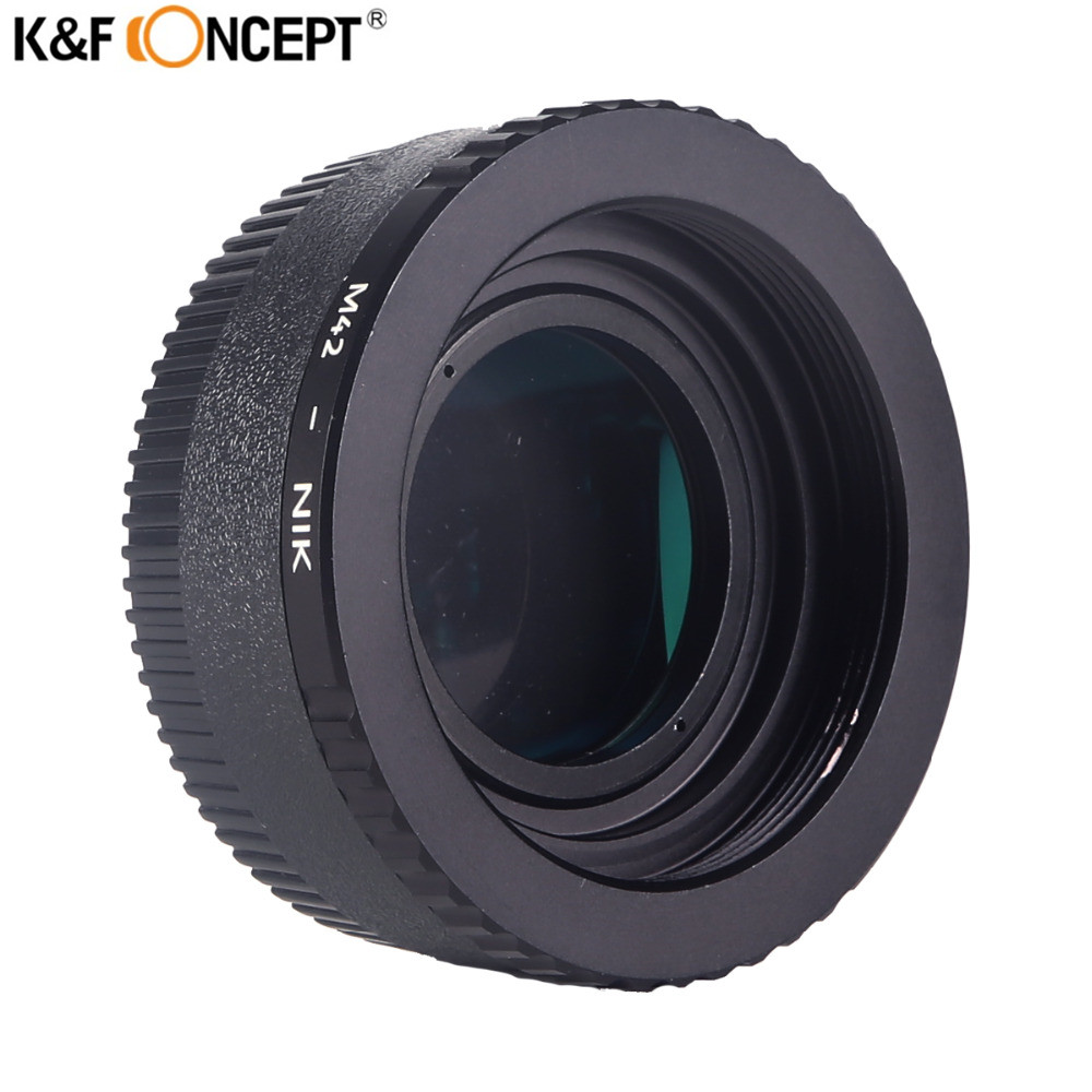K&F CONCEPT M42 To For Nikon Camera Lens Mount Adapter Ring + Glass + Cap For Nikon D5100 D700 D300 D800 D90 DSLR Camera Body