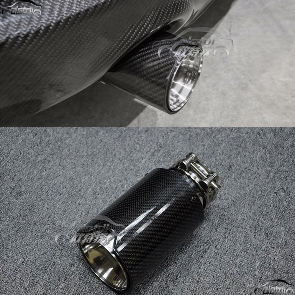 1 pieces Universal Car Styling Exhaust Tip Carbon Fiber Muffler Pipe Car-styling For BMW Mini Cooper Automobiles Accessories