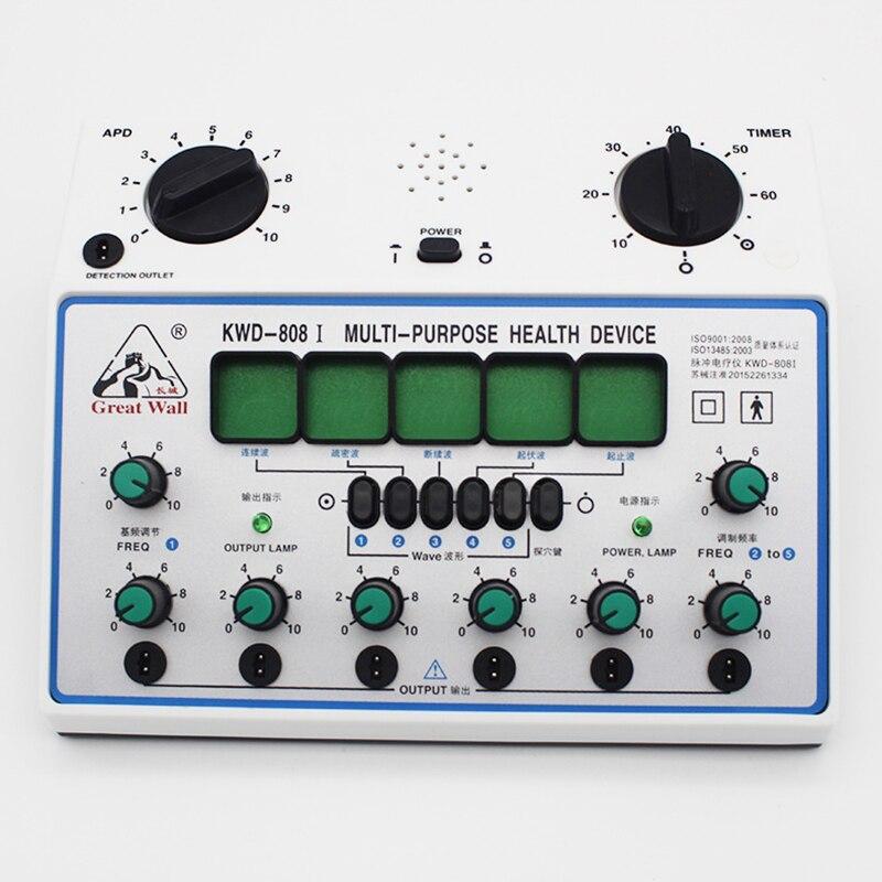 KWD808 I Elektrische Acupunctuur Stimulator Machine Elektrische zenuw spier stimulator 6 Kanalen Uitgang Patch Massager Care-in Massage & Ontspanning van Schoonheid op  Groep 2