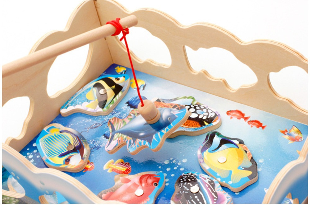 Educativos game Fishing Toys Outdoor Fun Sports Educational Puzzles GameMagnetic Children Jugueteselectric boy kids magnets
