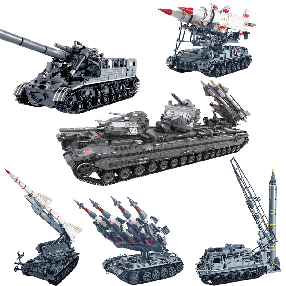Xingbao 06001 06004 06005 06006 06007 Military Weapons Series Tank Missle Armored Vehicle Sets Building Blocks