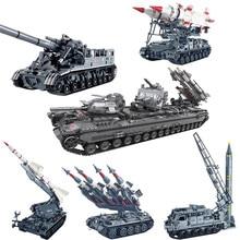 Xingbao 06001/06004/06005/06006/06007 軍事兵器シリーズタンクミサイル装甲車両セットビルディングブロック moc レンガ juguet