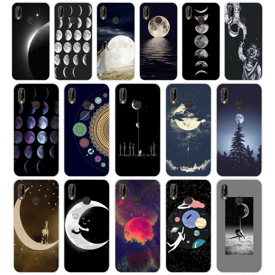 Half-wrapped Case Phone Bags & Cases 77g Space Love Moon Astronaut Soft Tpu Silicone Cover Case For Huawei Mate 10 P9 Lite 2017 P Smart