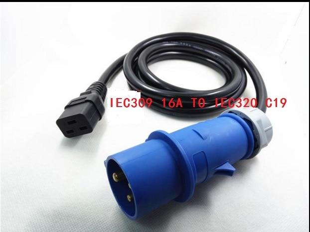 Haute qualité IEC309 16A à IEC 320 C19 POUR UPS / PDU rallonge cordon adaptateur câble