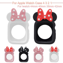 Cute Cartoon Watch Case For Apple 4 3 2 1 Soft TPU Shell iwatch 44mm 40mm 38mm 42mm Minne Protective Cover Accessories