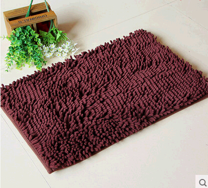 Bathroom Shaggy Shower Chenille Rugs Non Slip Bath Carpet Absorbent Mat  Thick Shag Pile Doormat Kitchen