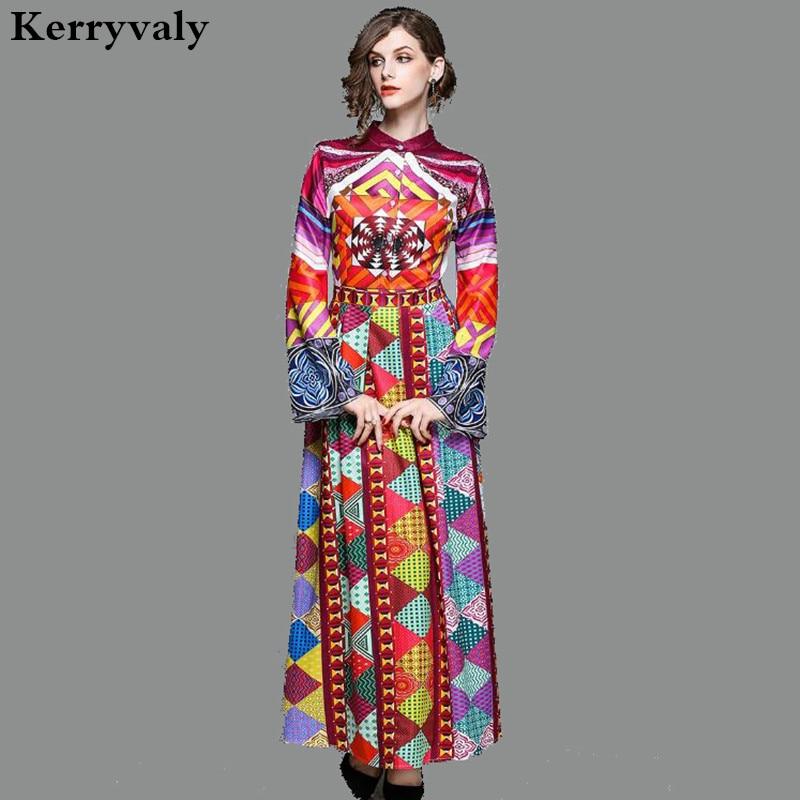 d8751d66d9c Bohemian Beach Dress Women Print Long Dress Robe Longue Femme 2019 Vestido  Longo Long Sleeve Maxi