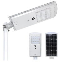 IP65 outdoor water proof solar led lights time sensor control 10W 15W 25W 30W 40W 50W 60W all in one solar led street lights