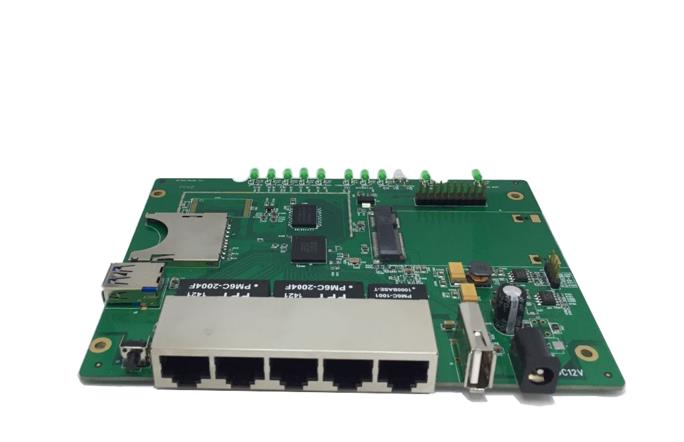 High performance MT7621 network processor router development board wavelets processor