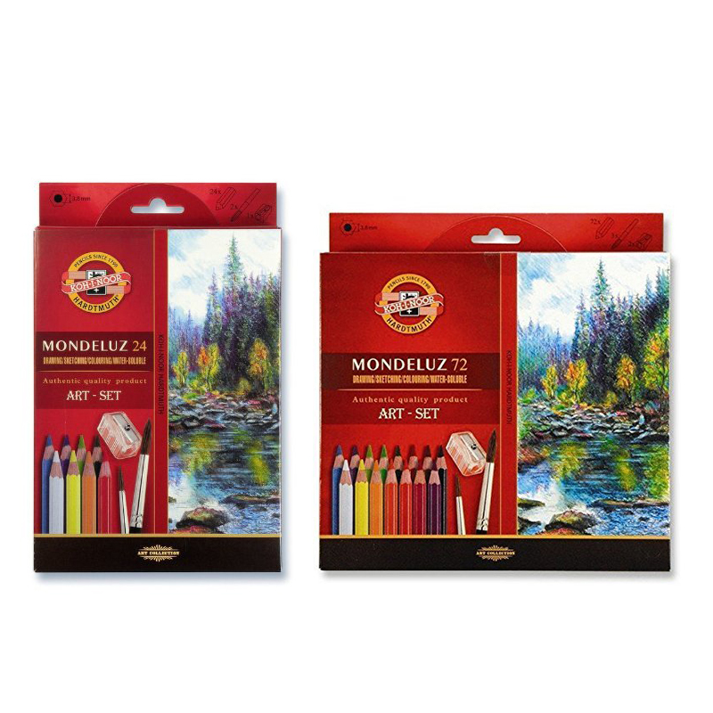 Koh-i-noor 24 36 48 72Colors WaterColor Colored Pencils Mondeluz Aquarell Drawing Pencils Set For Drawing Art Supplies title=